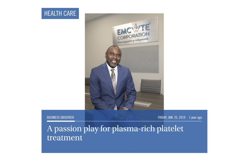 A Passion Play for Plasma-Rich Platelet Treatment