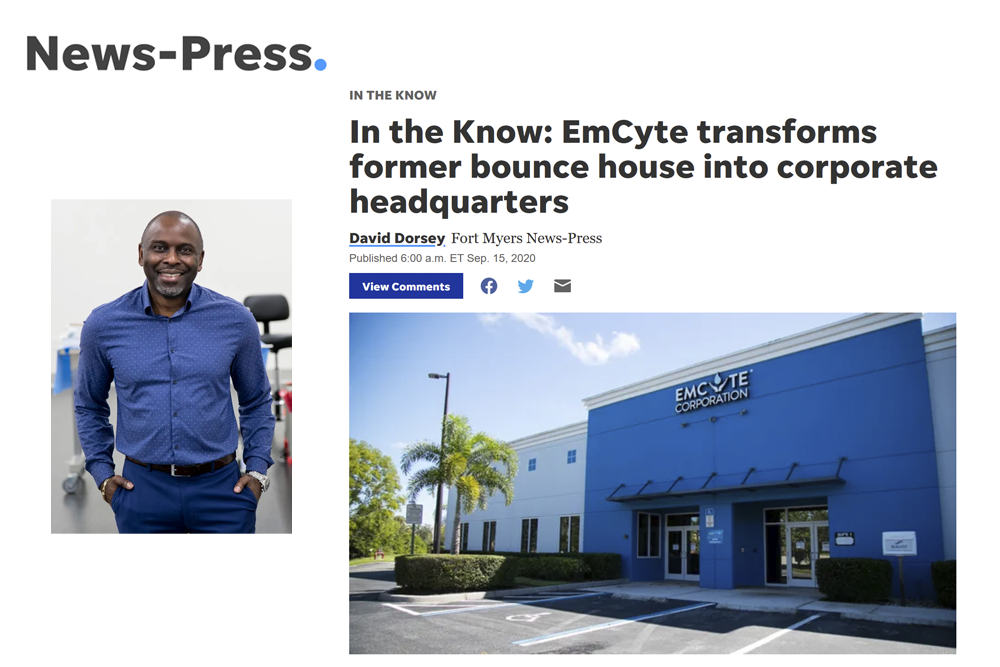 EmCyte transforms former bounce house into corporate headquarters